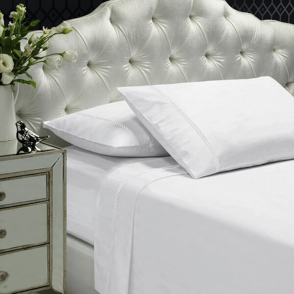 Coeur Embellished 400 Thread Count 100% Cotton Sheet Set by Alcott Hill